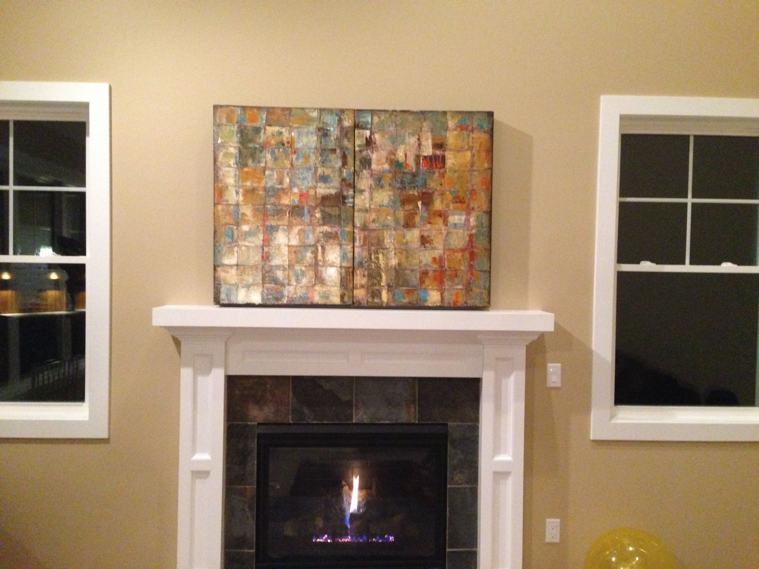 Diy disguise tv into beautiful painting hide tv over