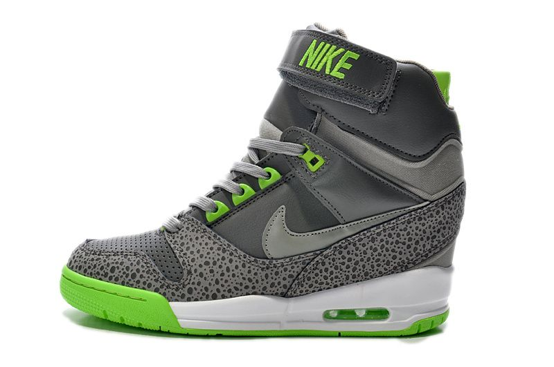 4d98545772b Air Revolution Sky Hi Women Lime Grey Fluorescent Green 599410 002 - Click  Image to Close