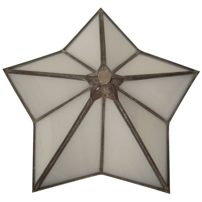 Art deco period star shaped wall sconce or ceiling light ceiling art deco period star shaped wall sconce or ceiling light mozeypictures Choice Image