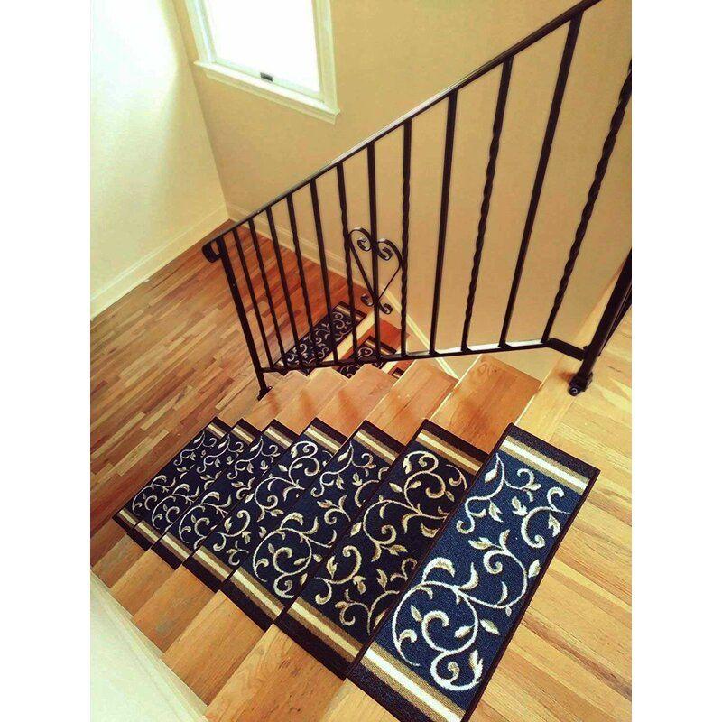 Best Fleur De Lis Living Weinert Non Slip Carpet Stair Tread In 400 x 300