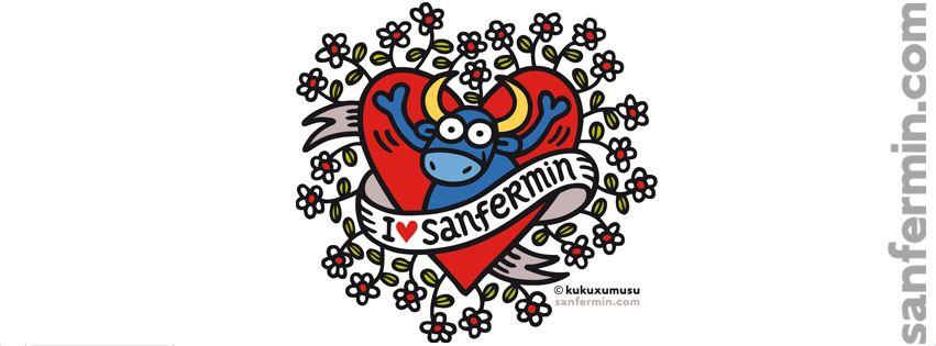 Dibujos San Fermin Para Colorear: Margarito. I Love Sanfermin. Biografía Para Facebook Con
