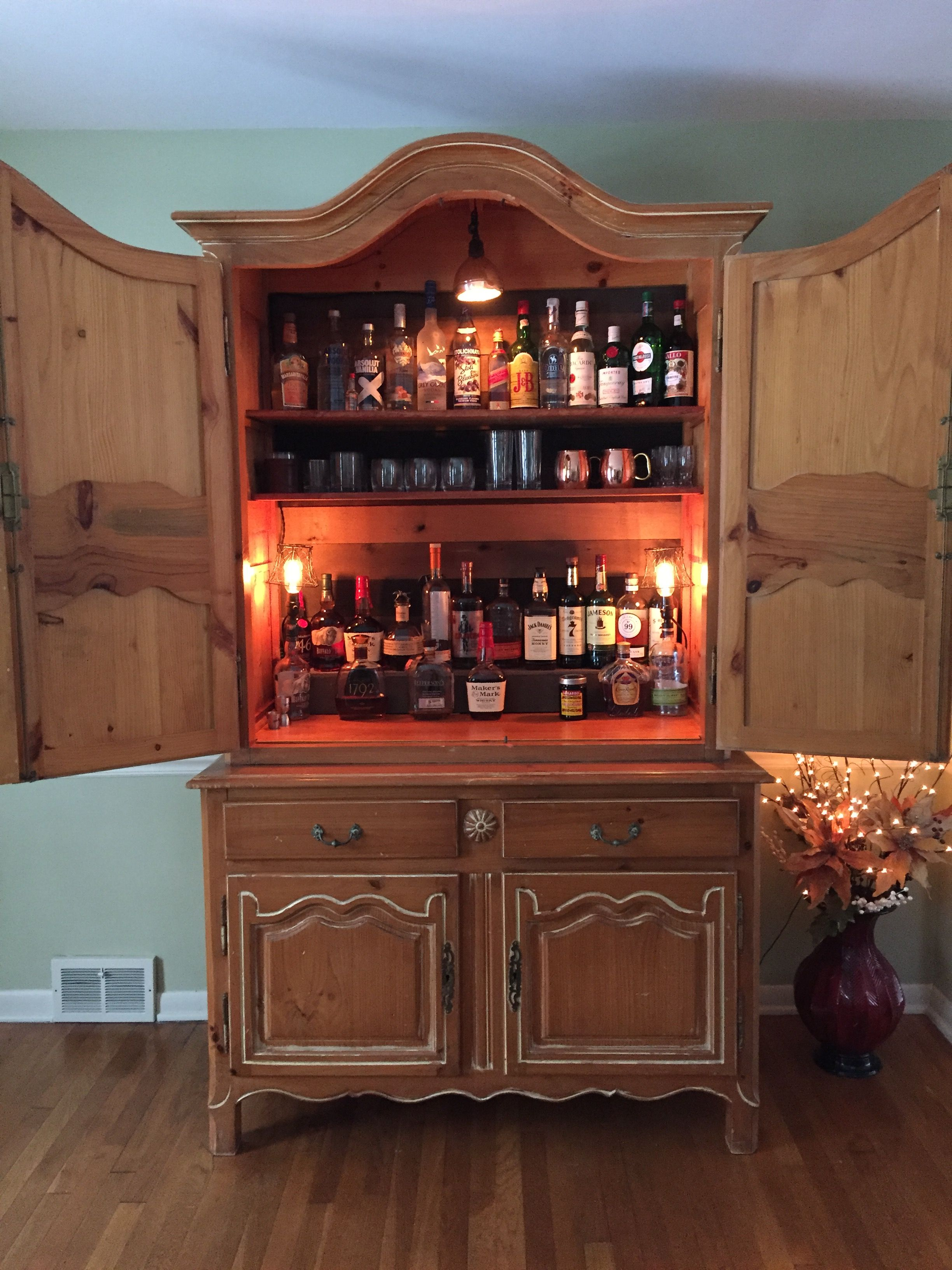 Pin By Daniel Davis On Armoire Bar Armoire Bar Entertainment Bar Furniture