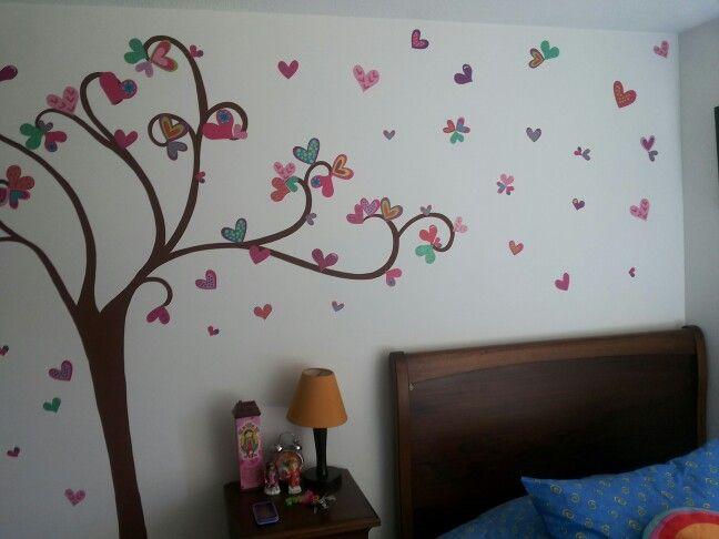 Cuarto pintado a mano cuartos decorados pinterest for Cuartos decorados