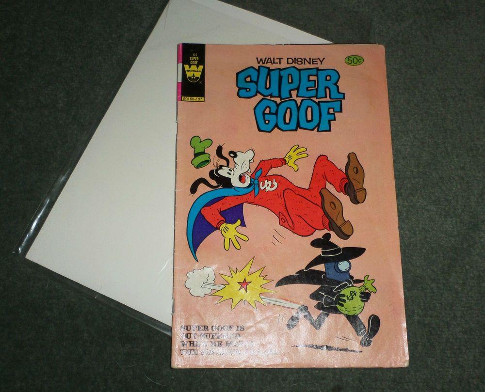 Walt Disney Super Goof, Whitman #64 1981, Bagged & Boarded Comic Book, GUC!
