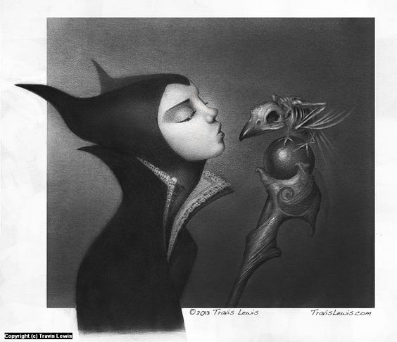 Beautiful maleficent artworks inlustration disney artworks