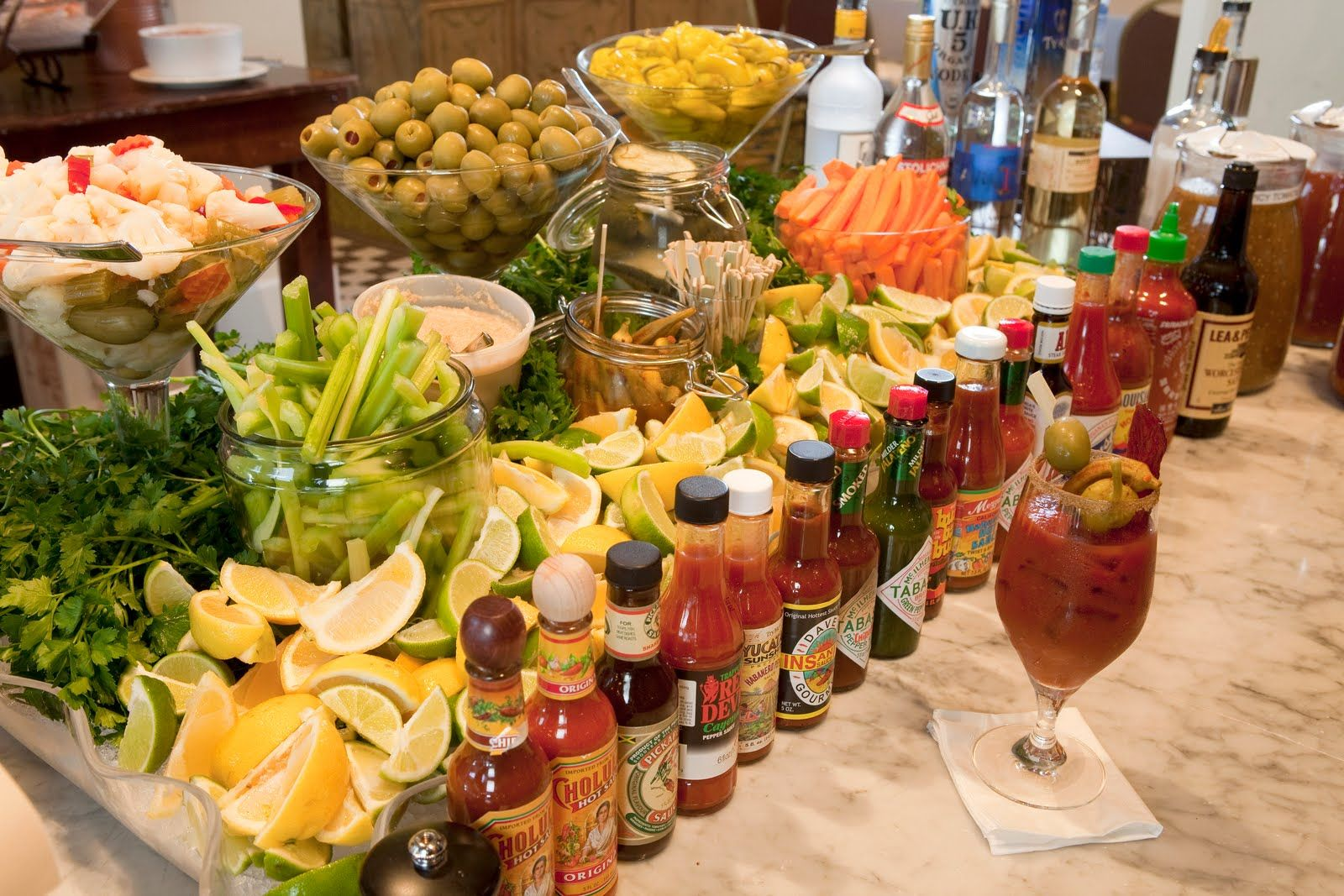 For football season!!!  Bloody mary bar.