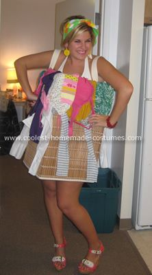 Homemade Laundry Basket Halloween Costume This Homemade Laundry Basket Halloween Costume was an original idea and very easy to make!  sc 1 st  Pinterest & Coolest Homemade Laundry Basket Halloween Costume | Jenna