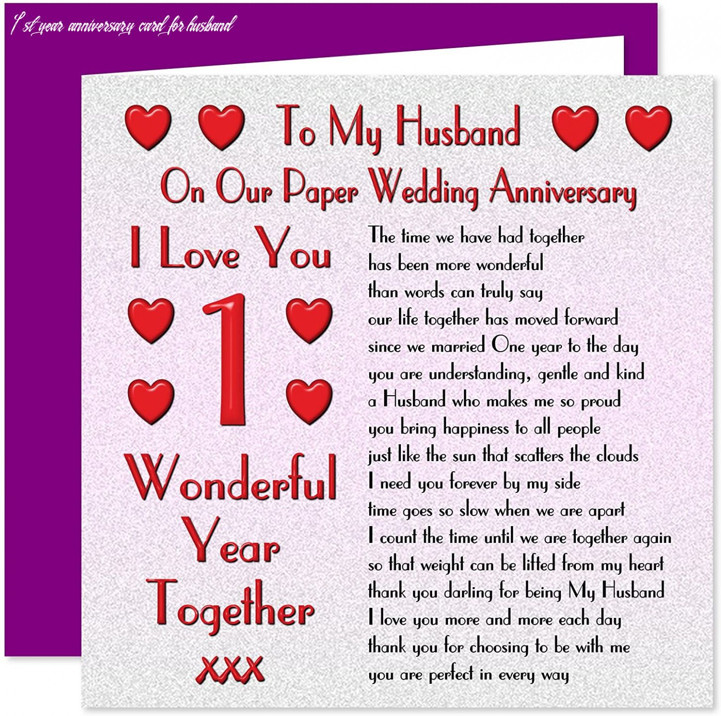 7 1st Year Anniversary Card For Husband in 2020