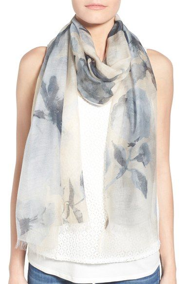 Badgley Mischka Floral Print Modal & Silk Scarf available at #Nordstrom