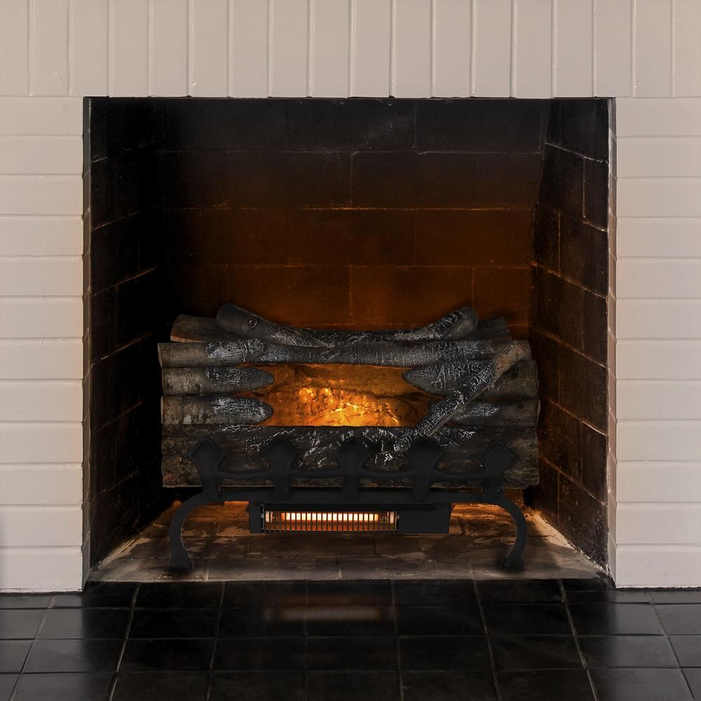 Pleasant Hearth 20 5 In Crackling Electric Fireplace Logs With
