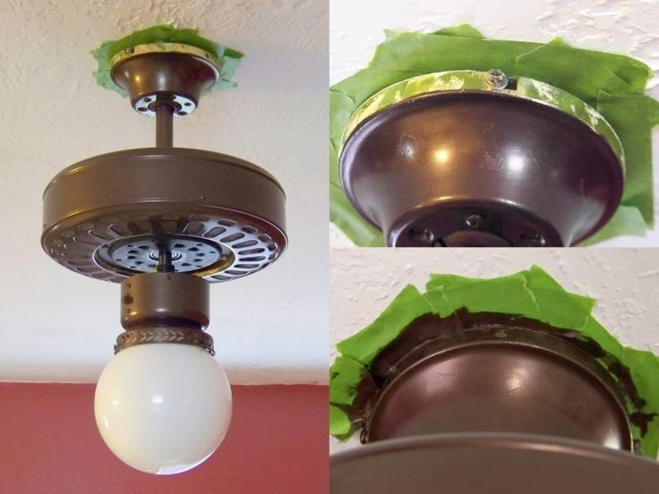 Painting Light Fixtures Ceiling Fan