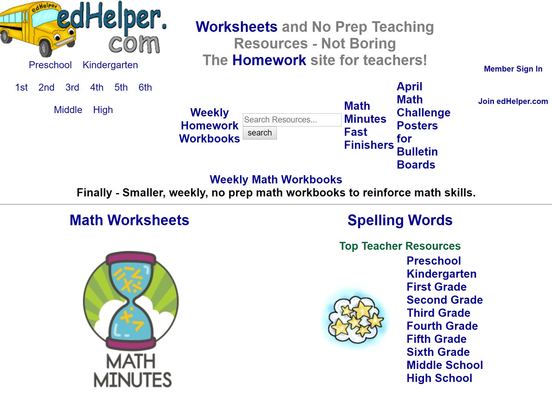 Edhelper Math Workbook Math Printables Worksheets [ 1313 x 1823 Pixel ]