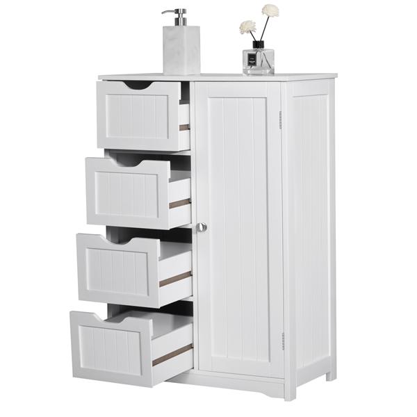 20++ Yaheetech wooden bathroom floor cabinet side storage organizer diy