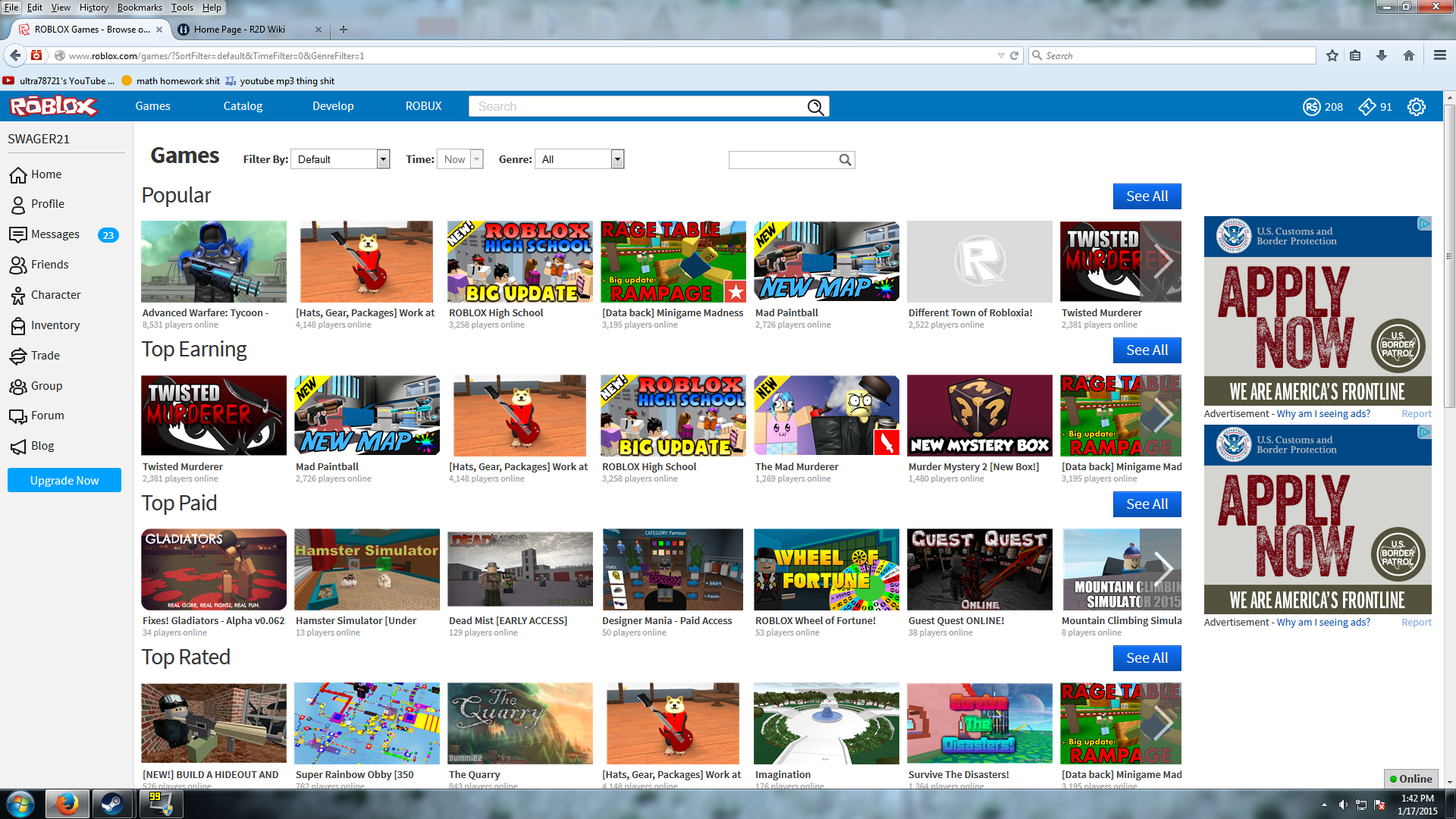 Roblox, One of the most popular multiplayer online game
