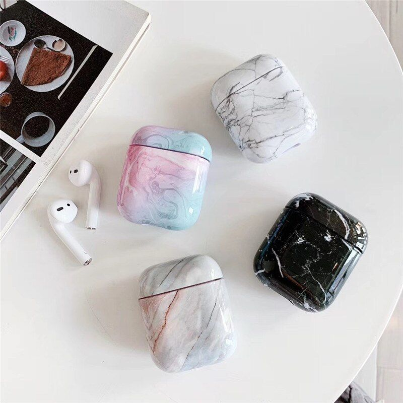 1pcs Luxury Marble Protective Cover For Apple Airpods 1 1