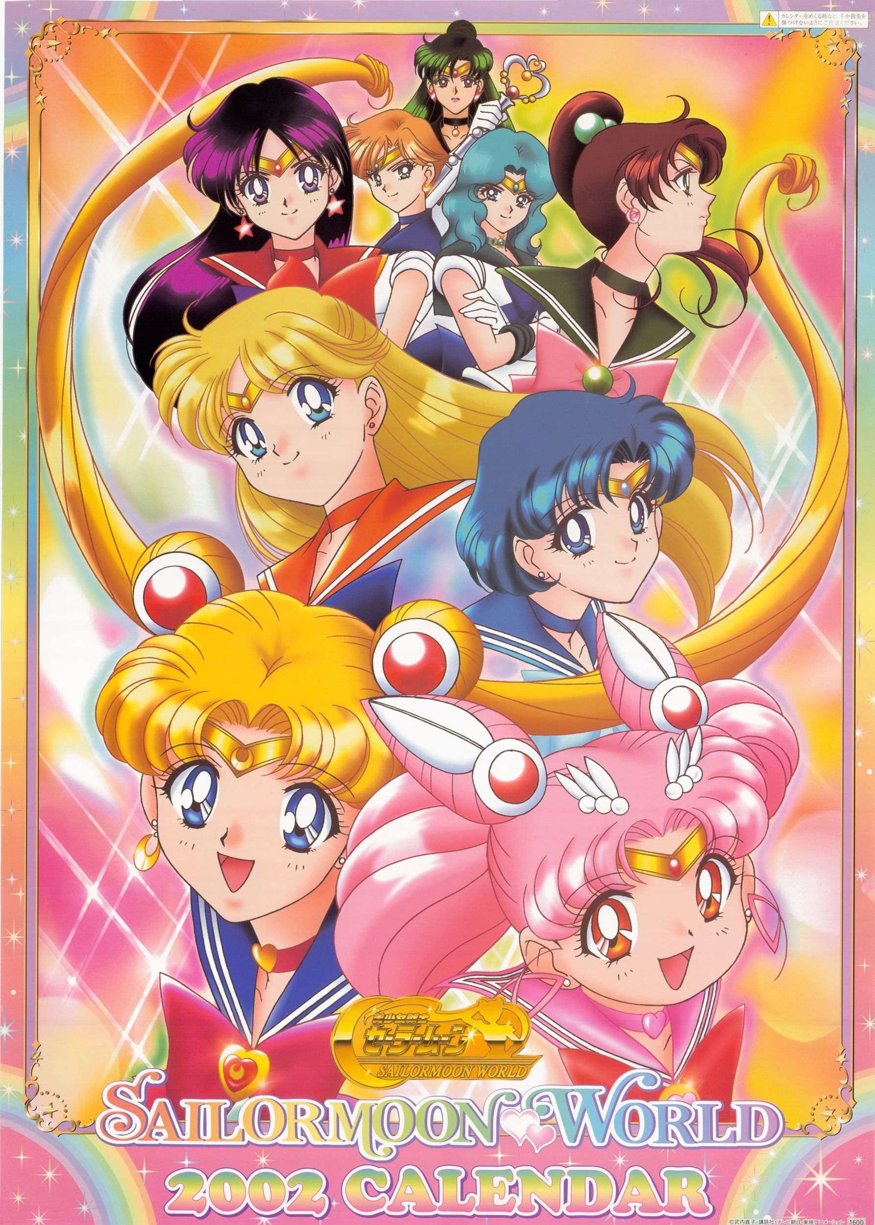 Sailor Moon 2002 Calendar Avec Images Poster