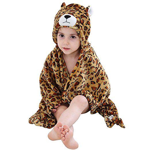 MICHLEY Baby Jungen und Mädchen mit Kapuze Tier Handtuch Body ...