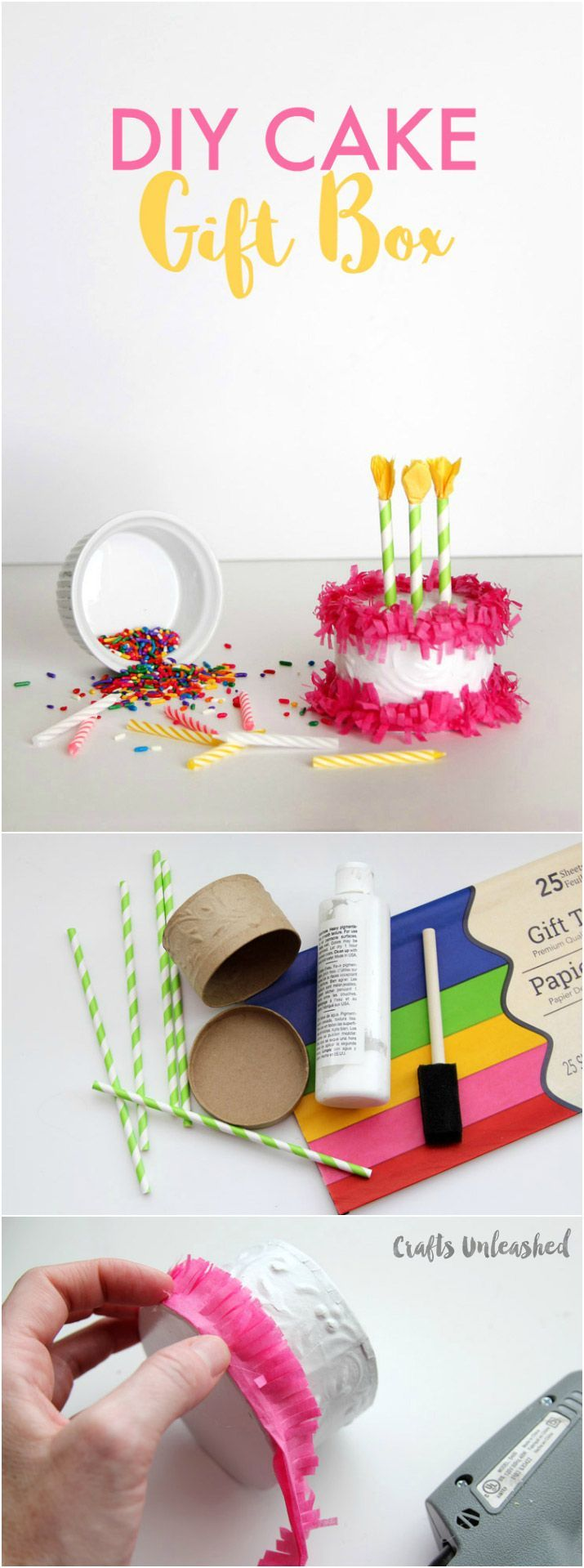 Gift Box DIY: Paper Mache Cake Box - Consumer Crafts -   25 diy birthday wrapping ideas