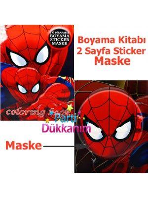 Spiderman Boyama Kitabı Stickerlı 16 Sayfa Spiderman Parti