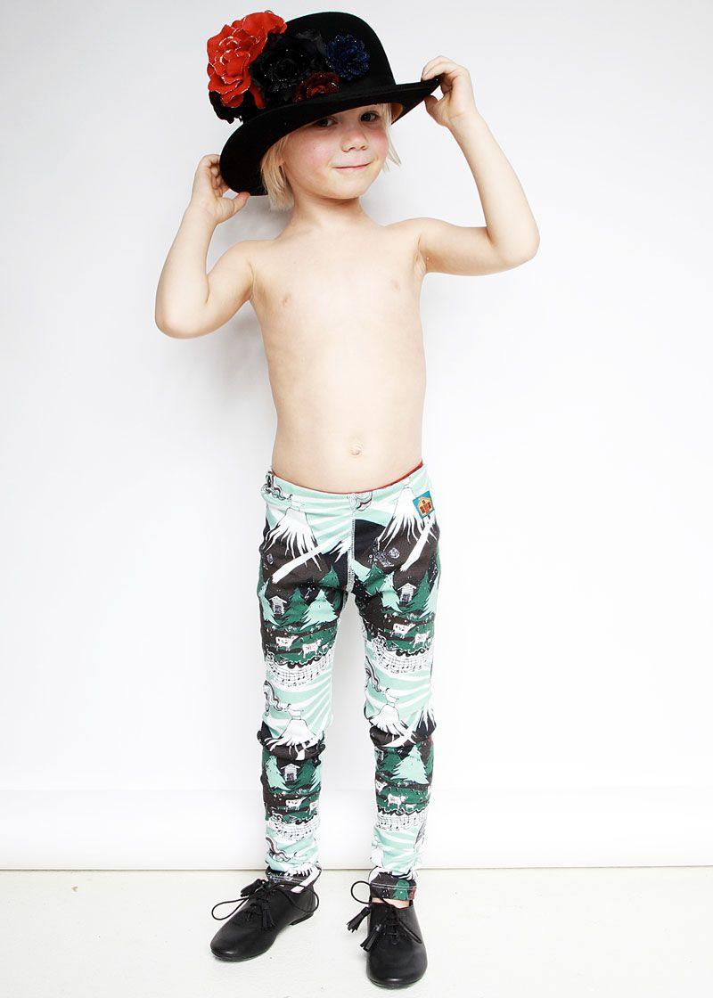 Nordinary   Modeerska Huset Fuji Leggings   leggings   montagne   vêtements pour enfants   bébé   bb   mode enfantine   cadeaux de naissance   scandinave   suède   Modeerska Huset   Nordinary  