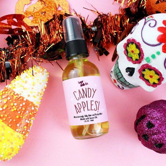 Candy Apples Hair and Body Mist- Silky Body Oil, Hair Perfume, Perfume Oil, Argan Oil, Jojoba Oil, Olive Oil, Hair Care, Hair Oil #jojobaoil