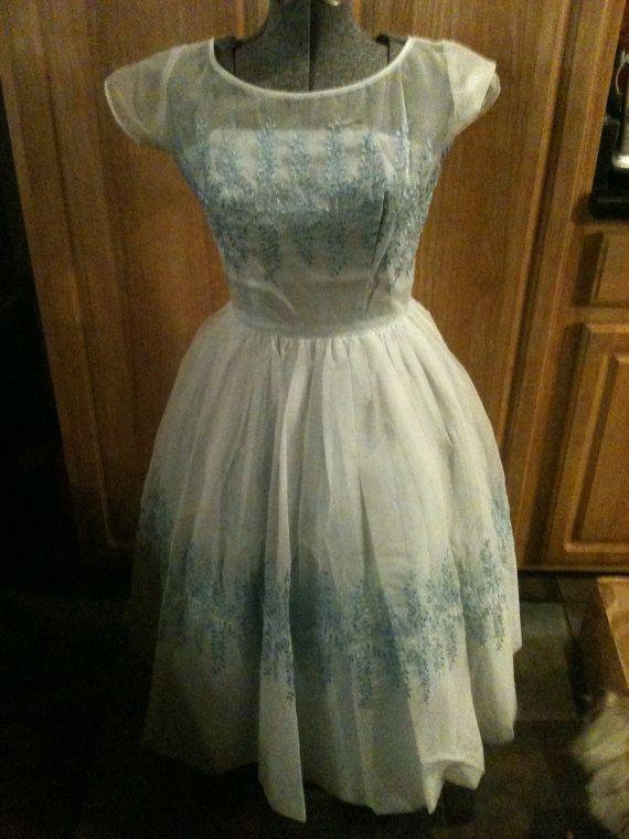 SALE Vintage 1960s Prom Type Dress