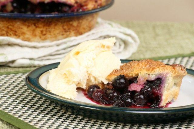 Maine Wild Blueberry Pie
