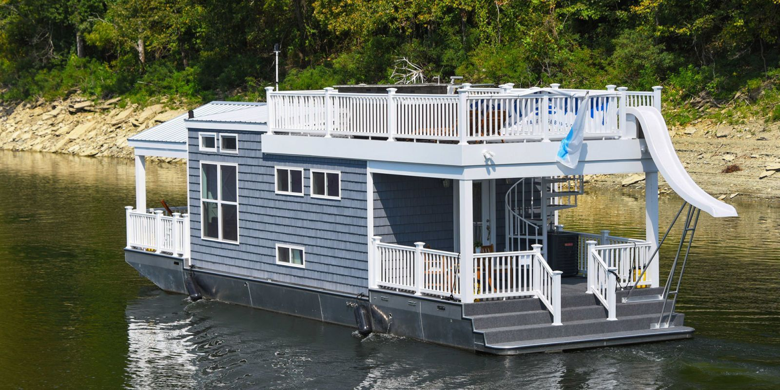 This floating tiny house is perfect for those who dream of living on