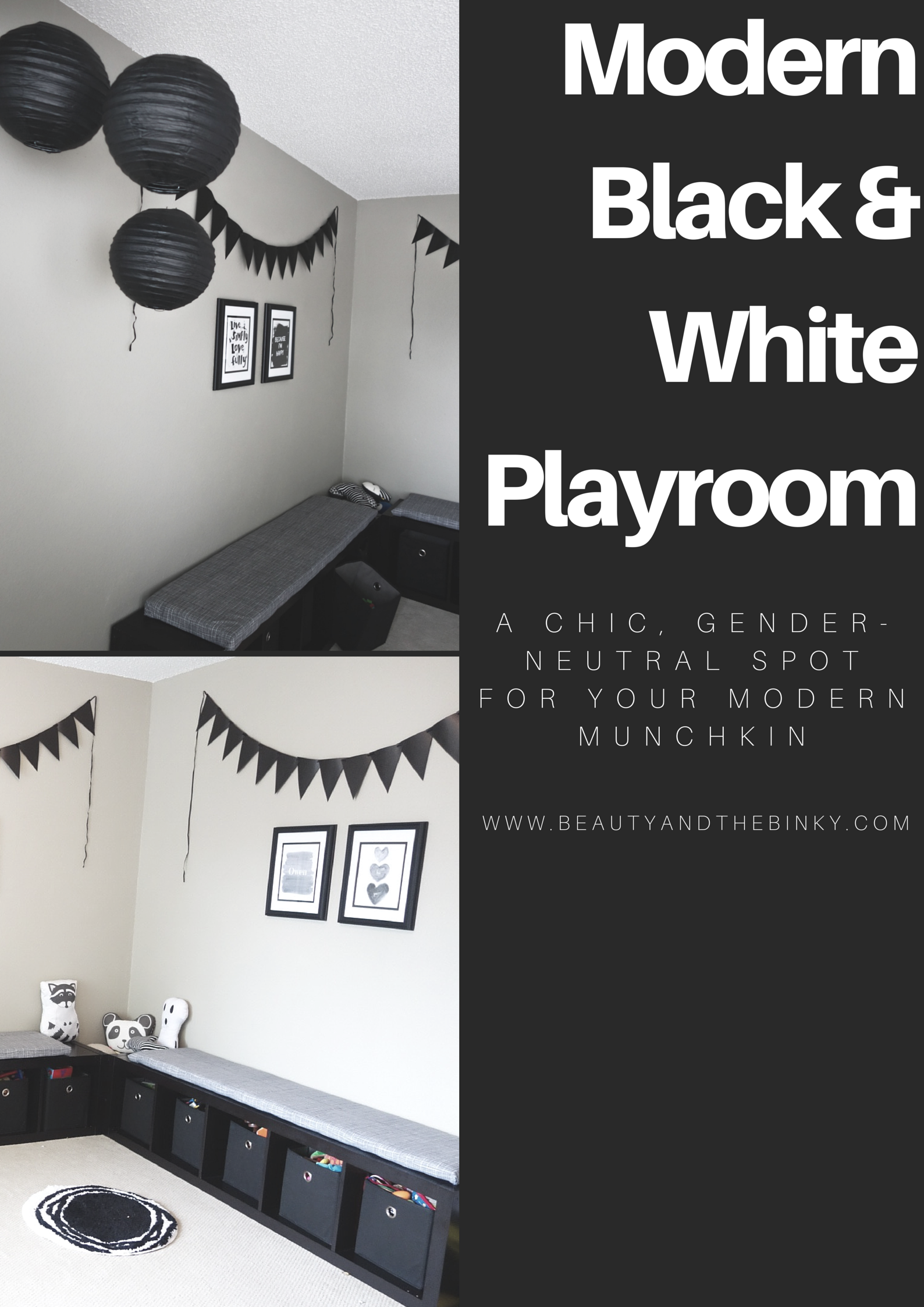 How to Decorate: Black and White Playroom Reveal | mommy | Pinterest ...