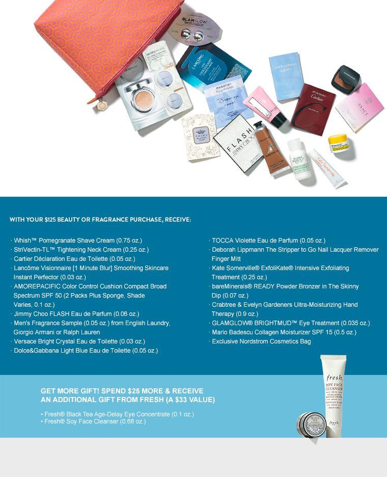 Gift with purchase fragrance eau de parfum neck cream