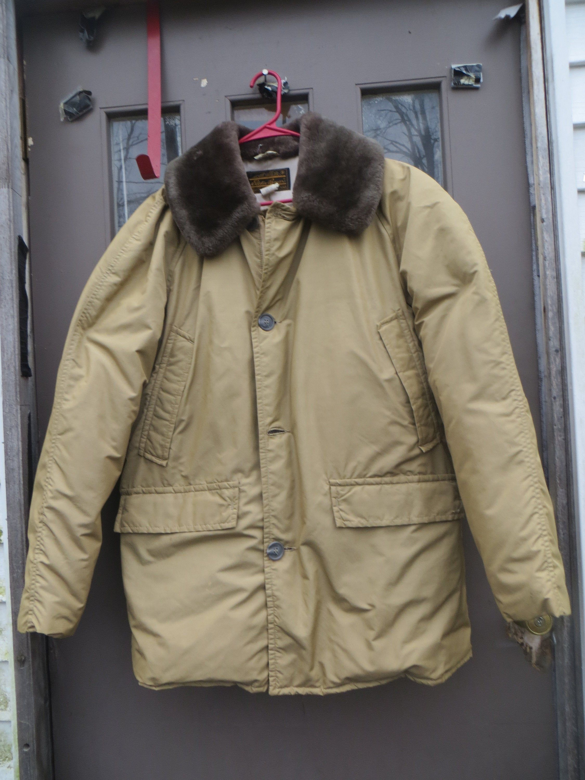 70s Eddie Bauer Vintage Goose Down Mens Parka Size Large Brown
