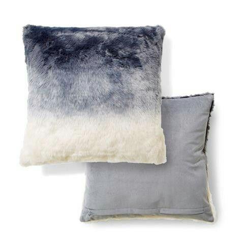Kmart Faux Fur Grey Ombre Cushion Throw Pillow Décor Cushions Custom Kmart Decorative Pillows
