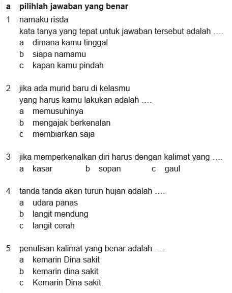 Soal Bahasa Indonesia Kelas 2 Semester 2 : bahasa, indonesia, kelas, semester, Microsoft