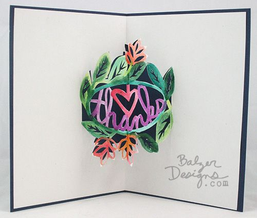Paper cut cards by Balzer Designs