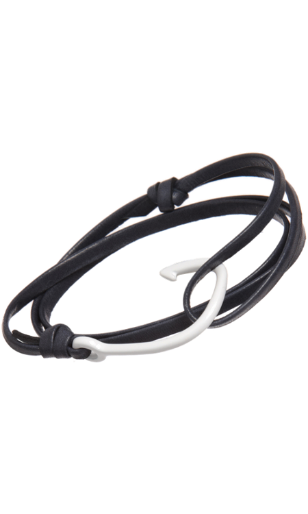 Miansai Leather & Hook Fine Wrap Bracelet - $68