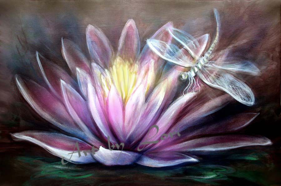 Lotus And Dragonfly Dragonfliesfairies Dragonfly