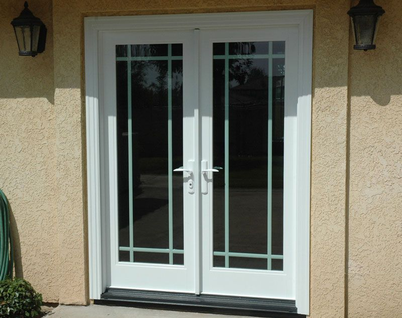 Replace Slider Door With French Doors And Add Cement