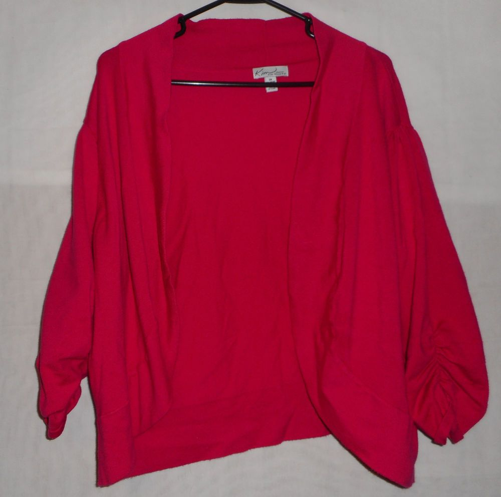 Details about Womens Size 3X Pink Short Sleeve Cardigan Shrug Wear ...