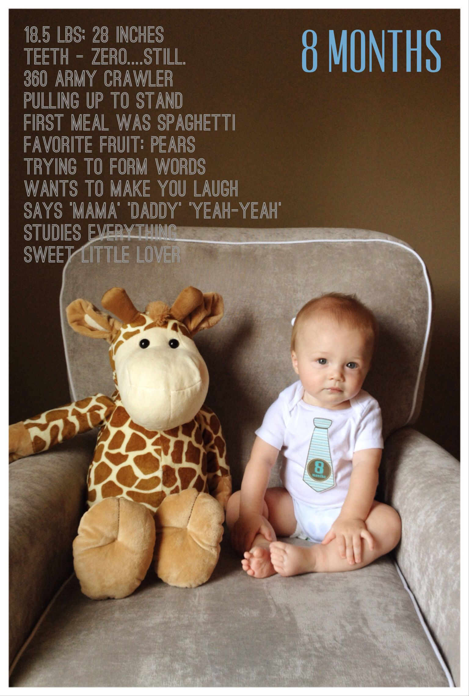 Baby wyatt is 8 months old heres his monthly update