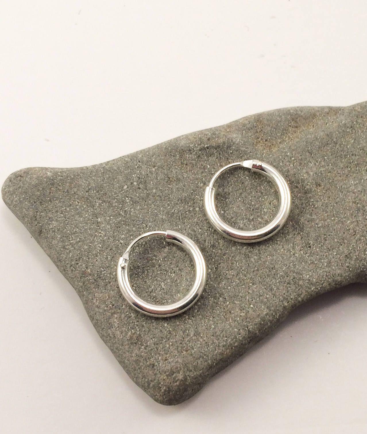 be9247ad4 Silver hoop earrings, silver chunky hoops, Boho hoops, sterling silver  indian style gypsy hoop earrings, small hoops, shine, Fat hoops, Gift by  SPIRALICA on ...
