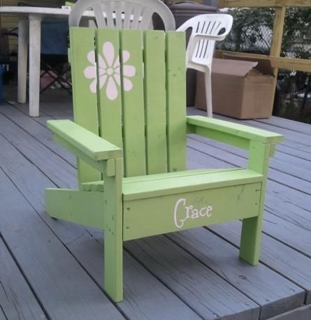 Ana White | Build A How To Build A Super Easy Little Adirondack Chair | Free
