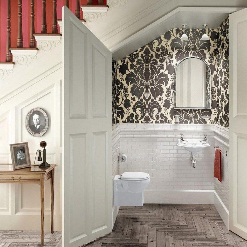 wallpaper small bathroom small bathroom ideas inside the ...