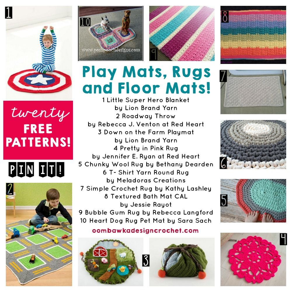Play mats rugs and floor mats httpoombawkadesigncrochet find 20 free crochet patterns for play mats rugs carpets and floor mats this week at free crochet pattern friday with oombawka design bankloansurffo Image collections