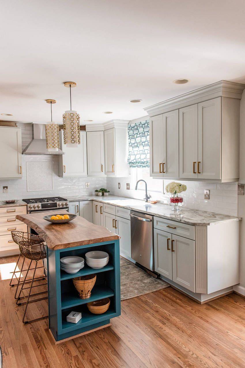 Love the use of raw edge wood on island also interior design kitchen and renovation house dreams pinterest rh