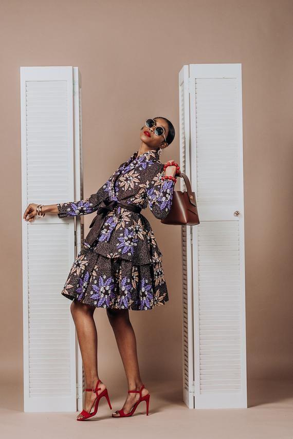 Ankara vêtements africain haut jupe africaine African Print robe mode africaine femmes vêtements tissu africain robe courte d'été #afrikanischerdruck