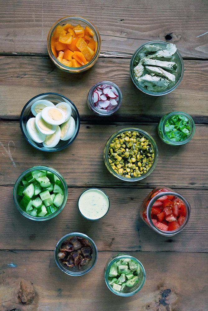 This easy COBB SALAD WITH LIME CILANTRO DRESSING HOMEMADE ...