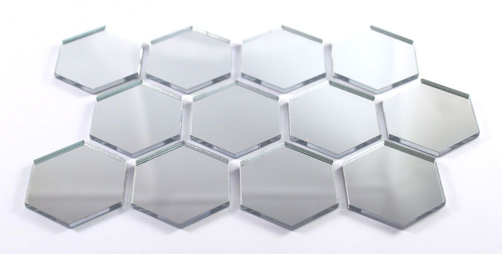 Shatter Resistant Bedroom Bathroom Wall Home Decor Hexagon Acrylic Mirror