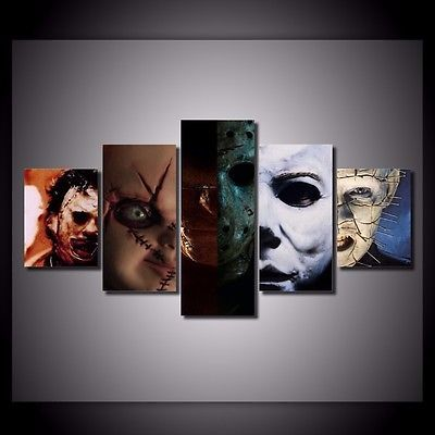 5 Pc Hd Canvas Print Home Decor Wall Art Painting Horror Movie Unframed Movie Decor Compass Wall Art Wall Art Painting