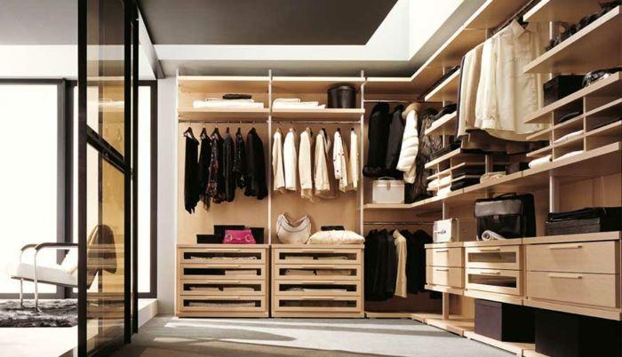 Ankleidezimmer beispiele  Offener Kleiderschrank - 39 Beispiele, wie der Kleiderschrank ohne ...