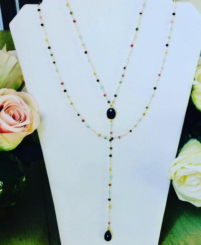 pretty nice 05be2 62728 Dolce Vita Gemstone Necklace Rosary Necklace Layered ...